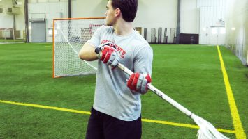 Brian Ward practices lacrosse in the Adventure Recreation Center at The Ohio State University. He was diagnosed with ADHD as a teenager, which not only impacted his ability to focus in the classroom, but on the playing field as well.