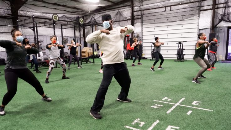 Mike Nicholson has limited capacity in his hip hop fitness classes and requires those in attendance spread out and wear masks. Though he's looking forward to welcoming more people back to class, he says it's important to continue to follow health precautions until COVID-19 is under control.